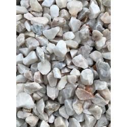 Gravier d coratif marbre blanc nuanc de rose et gris 6 16 for Gravier decoratif blanc