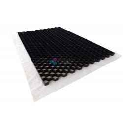 Nidagravel stabilisateur de graviers 2,9 cm Couleur Noir pour les graviers de couleurs foncés