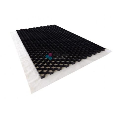 Stabilisateur de graviers 2,9 cm (12,96 €/m2) Couleur Noir pour les graviers de couleurs foncés