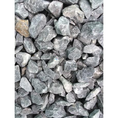 Gravier décoratif gris 6/10 concassé