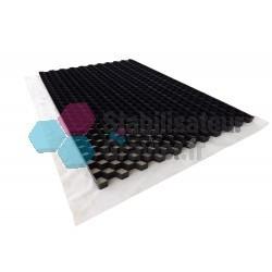 Nidagravel stabilisateur de graviers 3cm Noir 1,20m x 2,40m