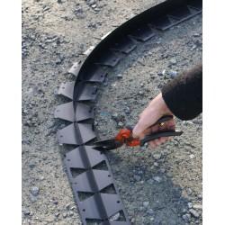 Bordure Tcourb PVC gris anthracite  H : 7 cm / L : 2,0 mètre