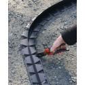 Bordure Tcourb PVC gris anthracite  H : 7 cm / L : 2,5 mètre