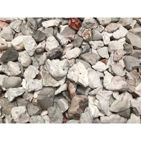 Gravier d coratif blanc point de gris et de rose 8 10 for Gravier decoratif blanc