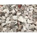 Gravier décoratif blanc épointé de gris et de rose 8/10 concassé