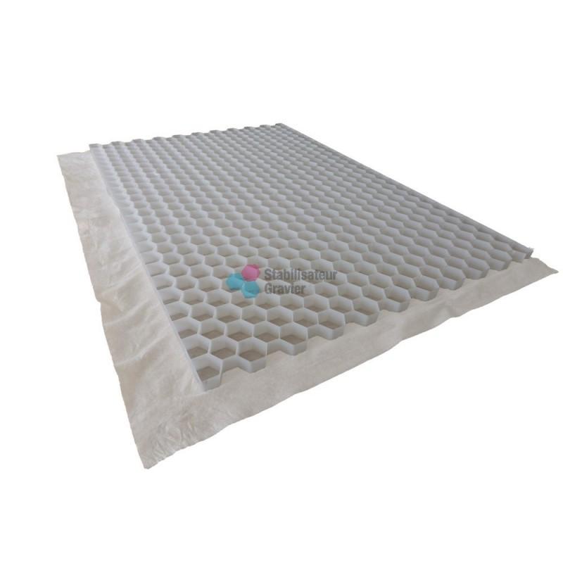 palette de stabilisateur de graviers blanc 3 cm 63 36m2 nidagravel. Black Bedroom Furniture Sets. Home Design Ideas