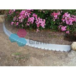 Voliges Tcourb PVC gris clair  H : 3 cm / L : 2 mètres