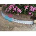 Voliges Tcourb PVC gris clair  H : 5 cm / L : 2 mètre
