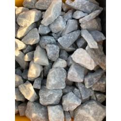Gravier décoratif gris/blanc grès 6/10