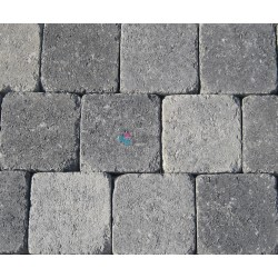 Pavés béton vieillis 13 x 13 x 5cm gris nuancé